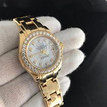 Rolex Masterpiece Datejust Pearlmaster Yellow Gold Mother Of...