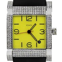 Xemex Stainless Steel 4.50ctw Diamond Bezel Watch