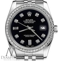Rolex Womens Rolex 26mm Datejust Black Color Dial With 8+2...