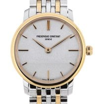 Frederique Constant Slim Line Stainless Steel Gold Plated...