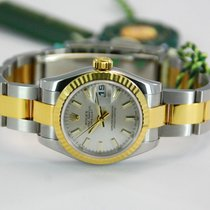 Rolex Ladies DateJust Two Tone 18kt YG/SS Silver Dial-179173