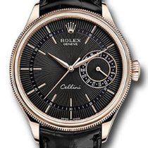 Rolex Unworn 50515-BLK Cellini Date Mens Automatic in Rose...