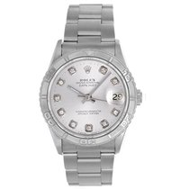Rolex Datejust Men's Stainless Steel Watch 16264 Diamond Dial