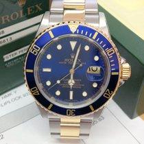 Rolex Submariner Date 16613 - Engraved Rehaut Serviced By Rolex