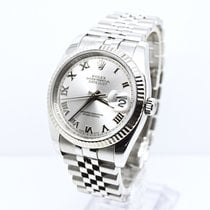 Rolex Date Just 116234 2008 Silver  Dial with Roulette date wheel