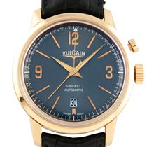 Vulcain 50s Presidents Alarm Grey Dial Rose Gold Case -...