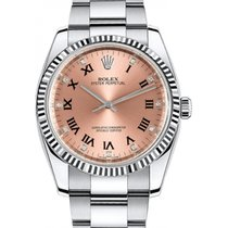 Rolex Oyster Perpetual 34 115234-PNKDFO Pink Roman Set with...