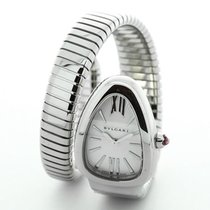 Bulgari Serpenti Silver Guilloche Single Twirl