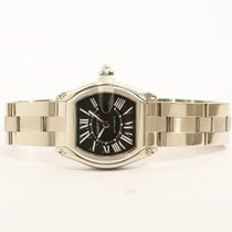 Cartier Roadster Tonneau  Steel Black Roman Dial 2510