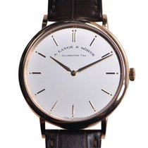 A. Lange & Söhne A Saxonia 18k Rose Gold White Manual Wind...