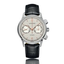 Longines Heritage Automatic Steel & Rose Gold Silver Dial...