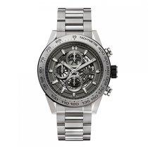 TAG Heuer Carrera Automatic Titanium Grey Dial Mens Watch...