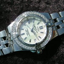 Breitling Starliner A71340 Mop Dial Steel Diamonds Perlmutt