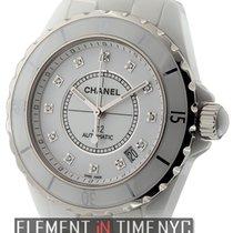 Chanel J12 White Ceramic Diamond Dial