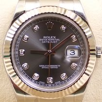 Rolex Datejust II, Ref. 116334 - rhodium Diamant Zifferblatt