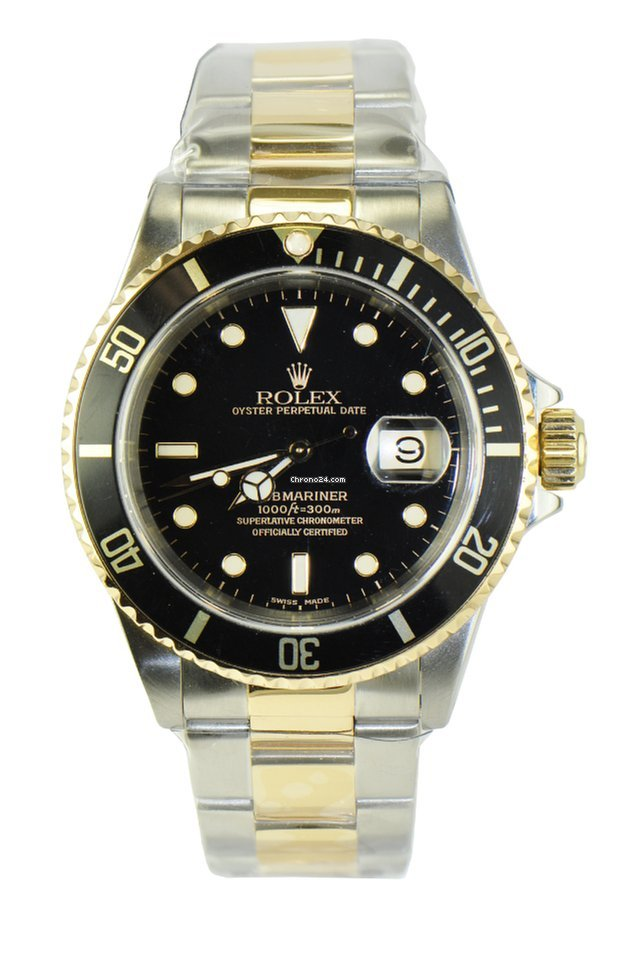 rolex submariner 2 tone date ref 16613 f r kaufen. Black Bedroom Furniture Sets. Home Design Ideas
