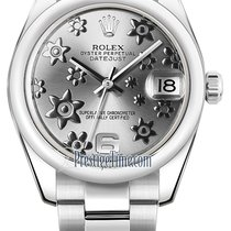 Rolex Datejust 31mm Stainless Steel 178240 Rhodium Floral Oyster