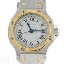 Cartier Santos Ronde Stahl /750er Gold Damen Revision