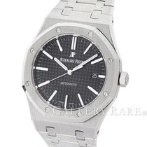 오드마피게 (Audemars Piguet) Royal Oak Black Dial Stainless Steel...