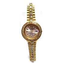 Rolex Oyster Perpetual Datejust 18k Gold Ladies Watch W/ Large...