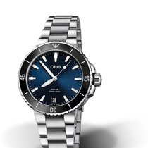 Oris DIVING AQUIS DATE Small Blue Dial-Steel Bracelet 36,5mm