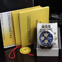 Breitling Chronomat Evolution B13356 18k Yellow Gold &...
