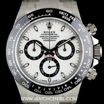 Rolex S/Steel Unworn White Dial Ceramic Bezel Daytona B&P...