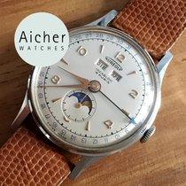 Aureole Vintage Swiss Manual Watch 1950 Top Condition Triple...