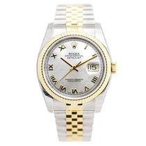 ロレックス (Rolex) Datejust 18k Gold Steel Silver Automatic...