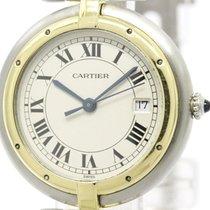 Cartier Polished Cartier Panthere Round 18k Gold Steel Quartz...