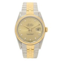 Rolex Datejust 16233 - Champagne Diamond Dial - 1991