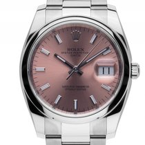 Rolex Oyster Perpetual Date Stahl Automatik 34mm Ref.115200...