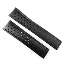 TAG Heuer 20mm black calf leather strap perforated FC6233...