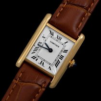 Cartier Vintage Ladies Mechanical Tank Watch - Solid 18K Gold
