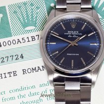 Rolex Air-King Stainless Steel Blue Dial Mens Automatic Watch...