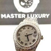 Rolex 81409RBR Pearlmaster Diam Pave Roman Dial Diam Brac WG
