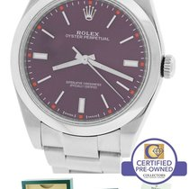 Rolex Oyster Perpetual 39mm Red Grape Stainless 114300 Watch