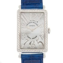 Franck Muller Long Island Stainless Steel With Diamonds White...