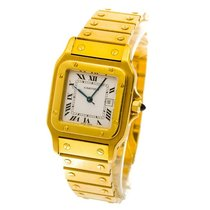 Cartier Santos - unisex watch - full gold