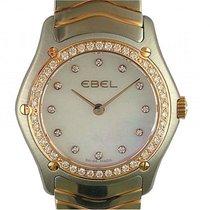 Ebel Classic Lady Stahl Roségold Diamond Perlmutt Armband...