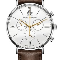Maurice Lacroix Eliros Chronographe White Dial Gold Hands,...