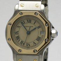 "Cartier ""Santos Octagon"" 18K gold/steel"