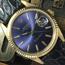 Rolex Date Yellow Gold Blue Dial