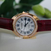 Cartier Cle' De Cartier Automatic Rose Gold Diamonds Silver