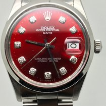 Rolex DATE 34MM AUTOMATIC RARE BORDEAUX DIAMONDS DIAL