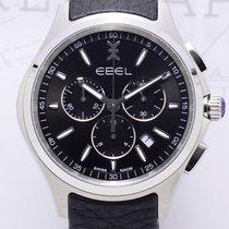 Ebel Wave Gent Chronograph 42mm Leather black dial NEU Klassiker