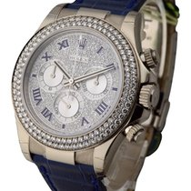 Rolex Unworn 116589RBR_pave_diamonds White Gold Daytona with...