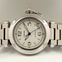Cartier Pasha C Steel Date White Dial with Rosé Index 35 mm