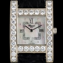 Chopard 18k W/G MOP Dial Diamond Bezel H Watch B&P...