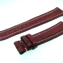 Breitling Band 20mm Croco Red Brown Strap Ib20-02